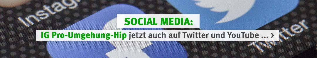 IG Pro-Umgehung-Hip: Jetzt auf Twitter und YouTube