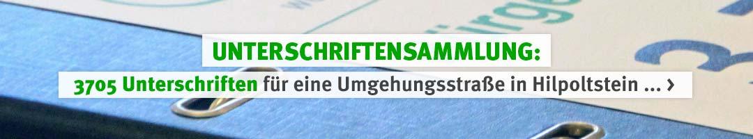 IG Pro-Umgehung-Hip: 3705 Unterschriften für eine Umgehungsstraße in Hilpoltstein